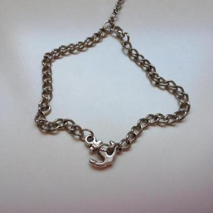 Anchor chain Anklet 25- friendship ..