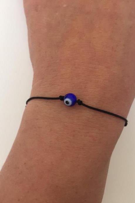 Evil eye Bracelet 267 - Kabbalah faith cuff bracelet talisman positive energy gift adjustable current womenswear faux suede